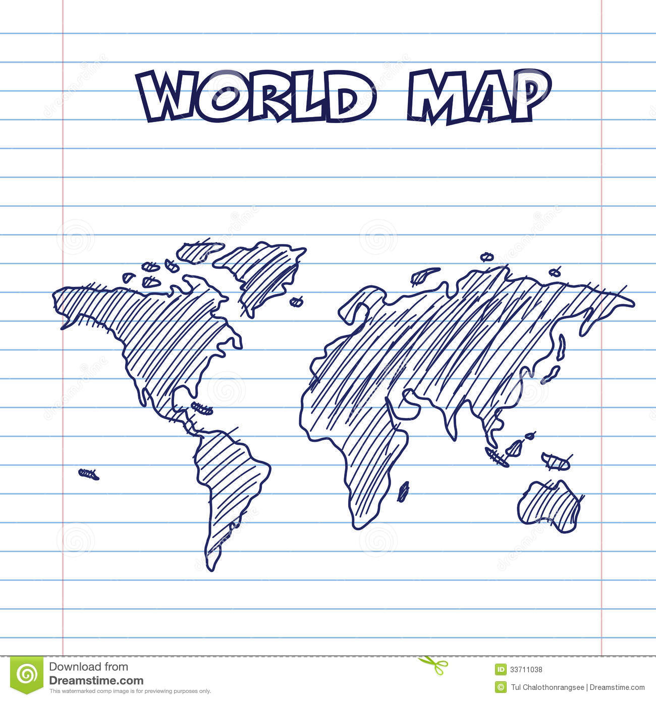 World map doodle pen ink stock vector illustration of atlas 33711038 world map doodle pen ink gumiabroncs Image collections