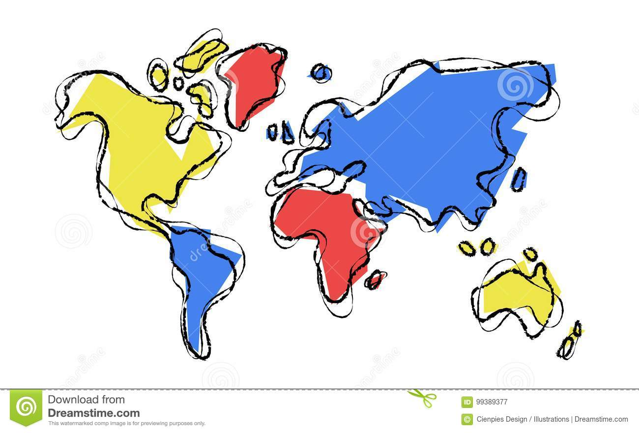 World map doodle sketch color illustration concept stock vector royalty free vector download world map doodle sketch color illustration concept stock vector illustration gumiabroncs Images