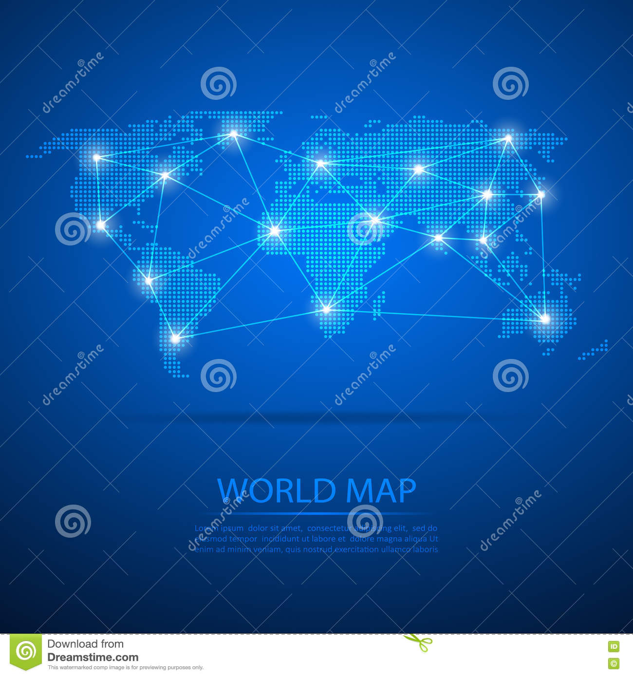 World map with dot nodes vector design dots map dots map world map with dot nodes vector design dots map dots map background royalty free illustration gumiabroncs Choice Image