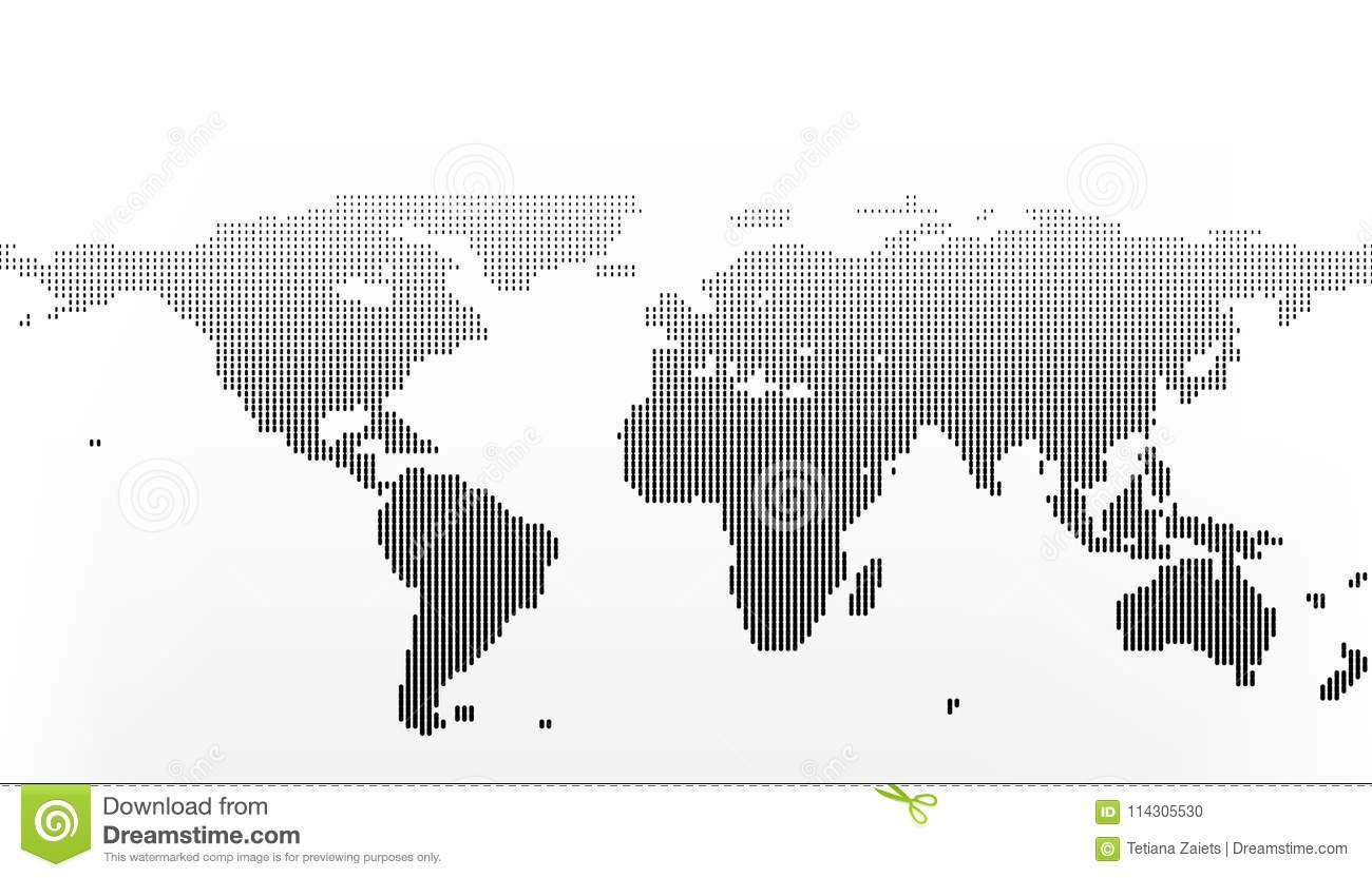 World map in dots little lines with gradient effect stock vector world map in dots little lines with gradient effect gumiabroncs Choice Image