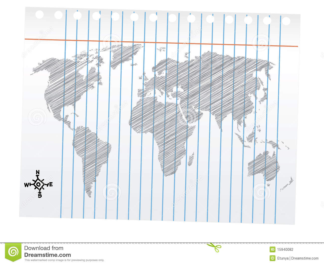 world map drawing pencil sketch stock photography image
