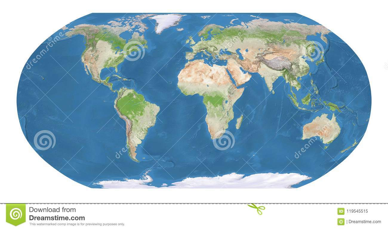 Geographic Map Of Earth.World Map Stock Illustration Illustration Of Europe 119545515