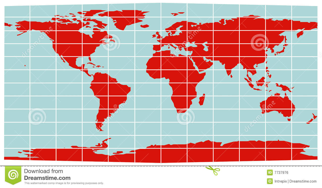 World map equirectangular grid stock vector illustration of world map equirectangular grid gumiabroncs Gallery