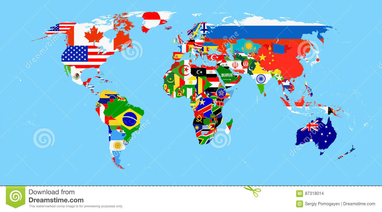 World map with flags stock vector illustration of graphic 87318014 download world map with flags stock vector illustration of graphic 87318014 gumiabroncs Images