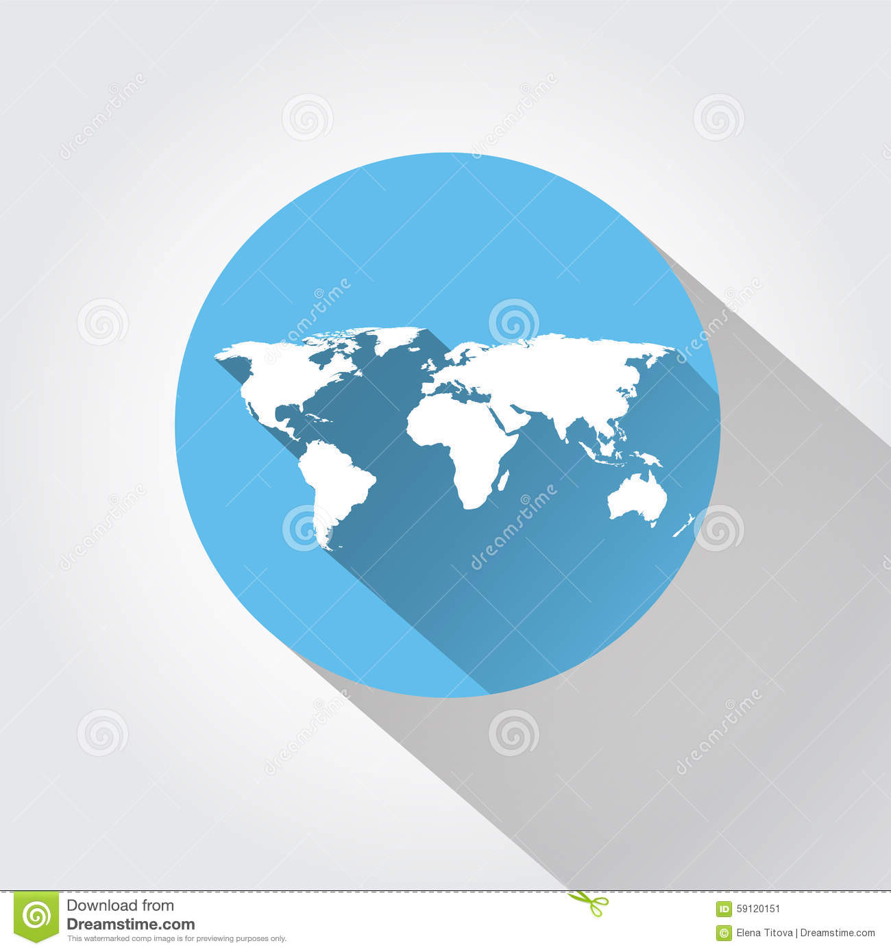 World map flat design long shadow stock vector illustration world map flat design long shadow gumiabroncs