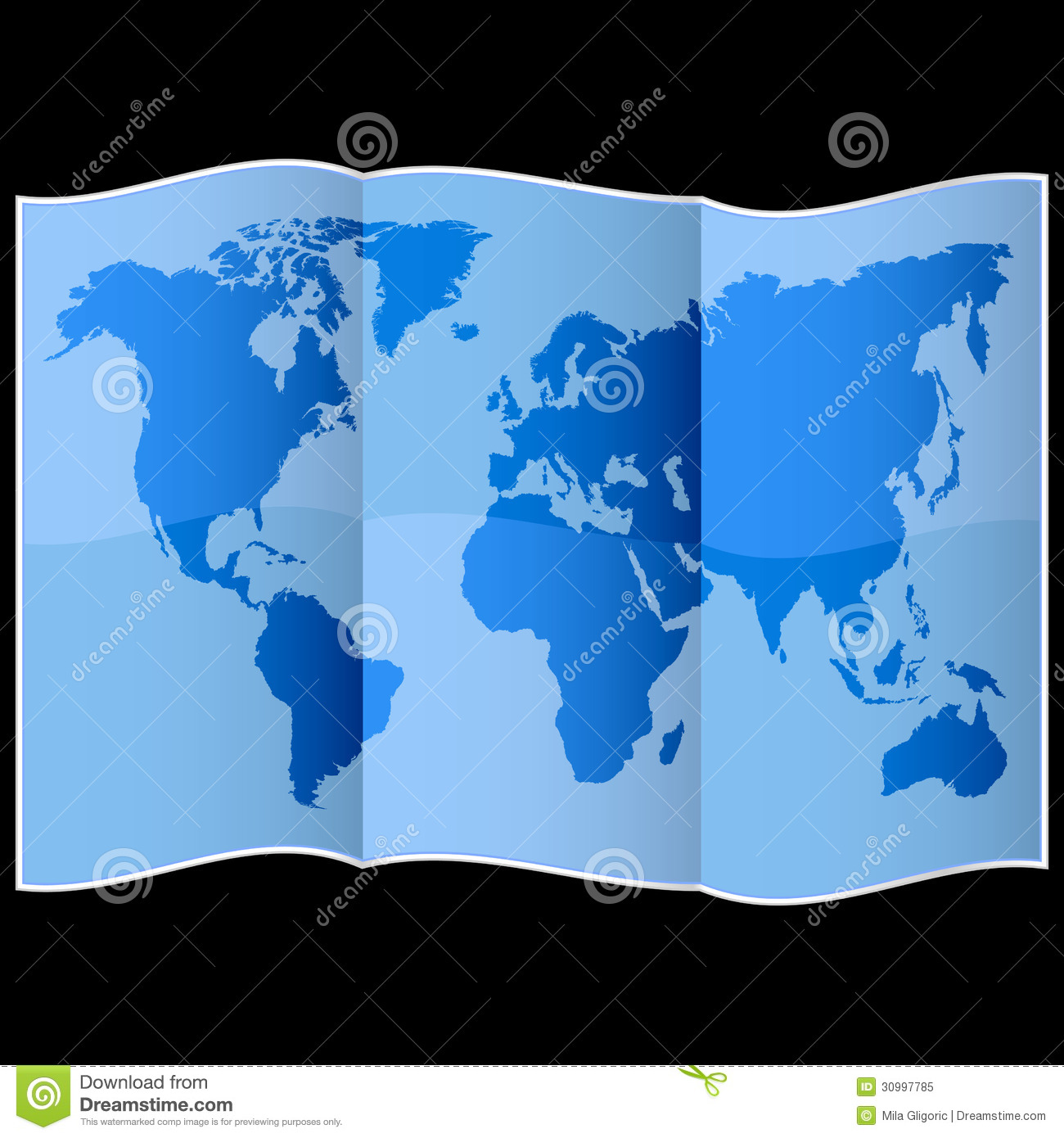 World map on folded paper stock image image of americas 30997785 world map on folded paper royalty free stock photo gumiabroncs Images