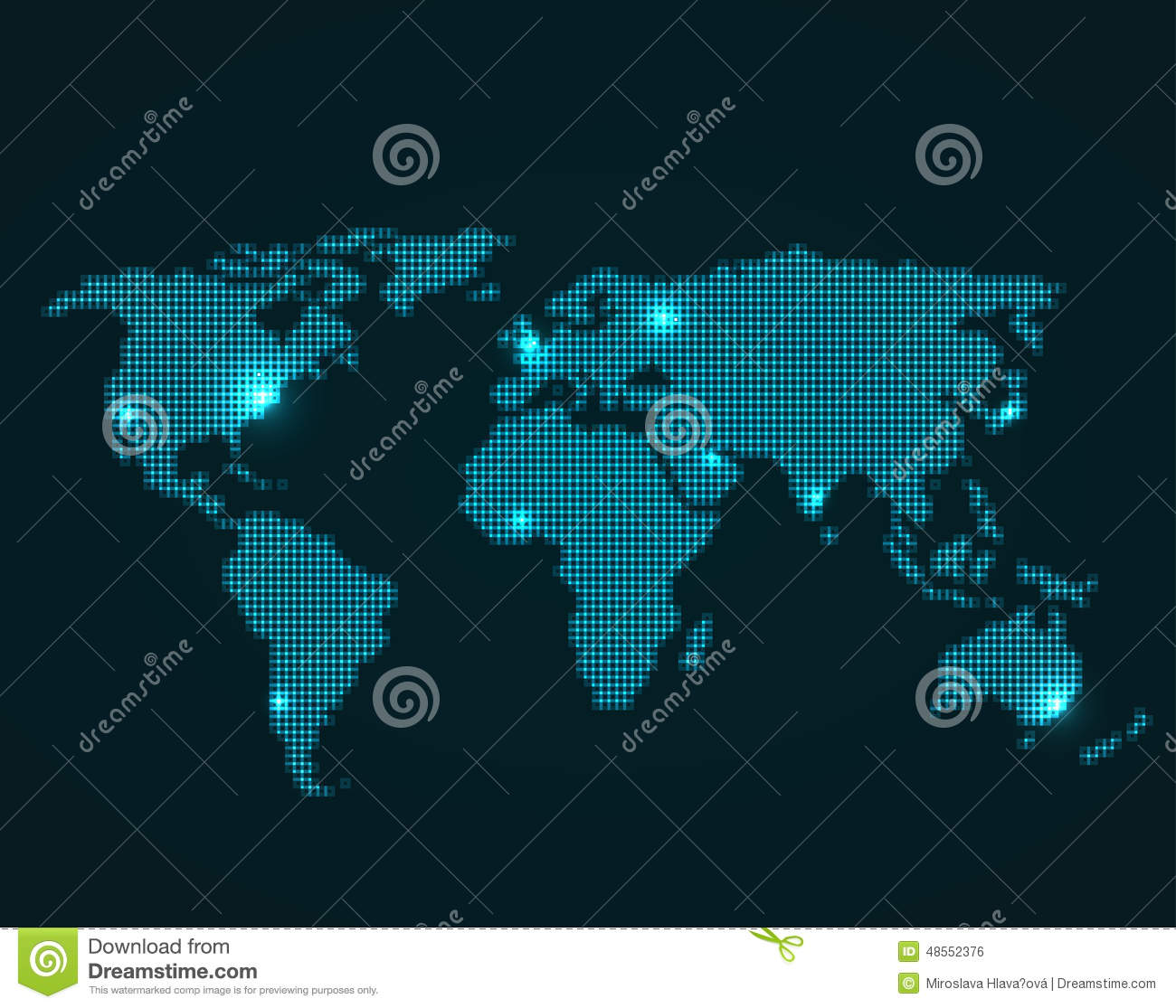 World map stock vector illustration of africa digital 48552376 world map royalty free vector gumiabroncs Image collections