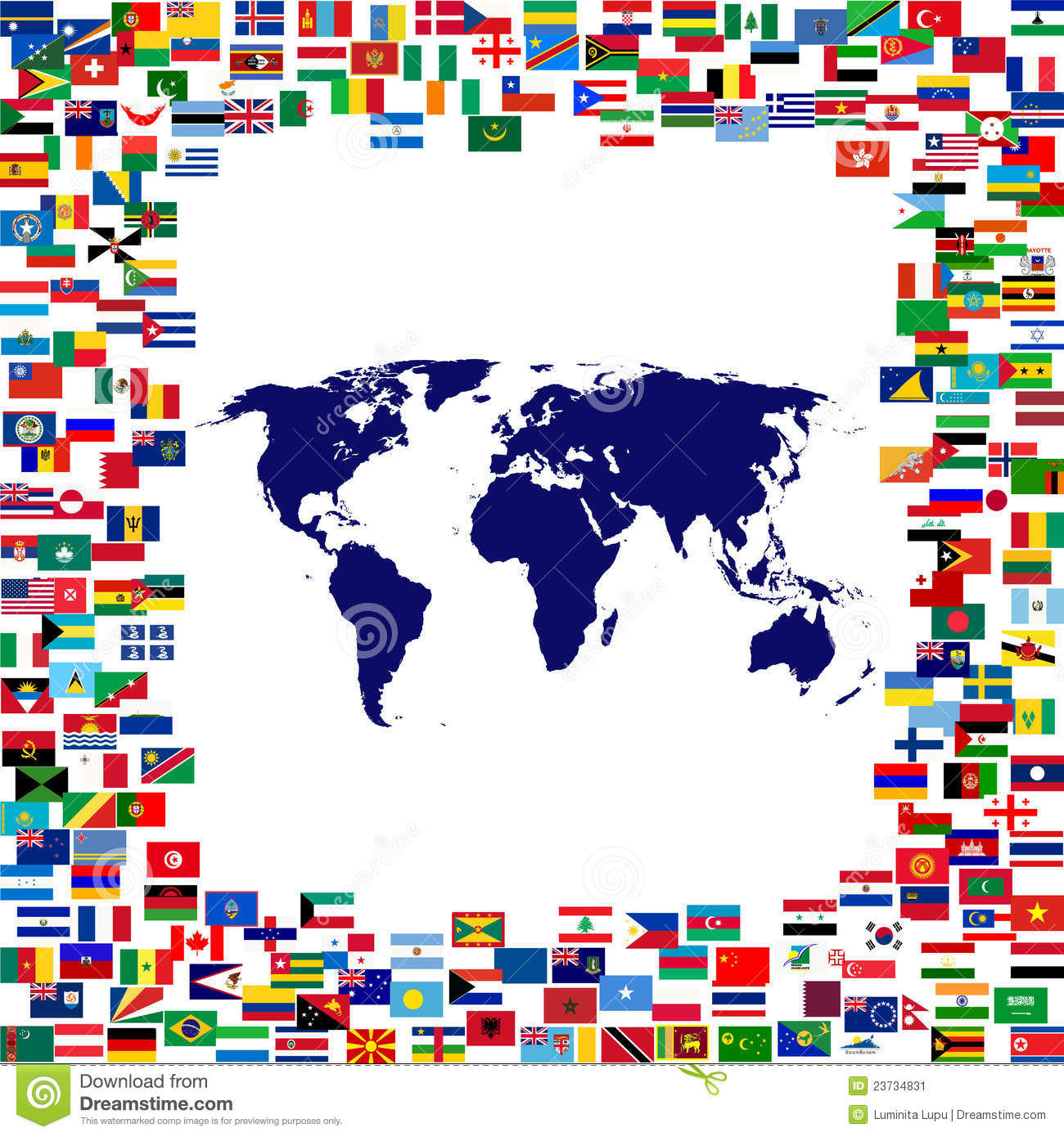 World map framed by world flags stock illustration illustration of download comp gumiabroncs Images