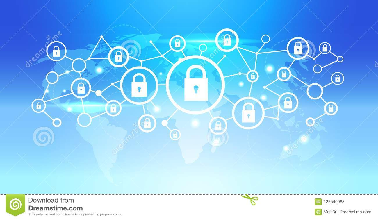 World map futuristic padlock icon interface data privacy protection download comp gumiabroncs Gallery
