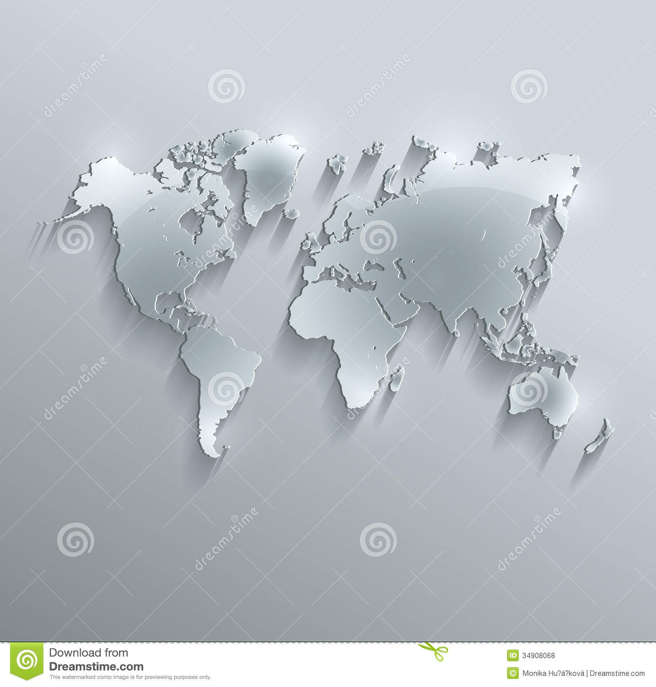 World map glass card paper 3d stock illustration illustration of world map glass card paper 3d gumiabroncs Gallery