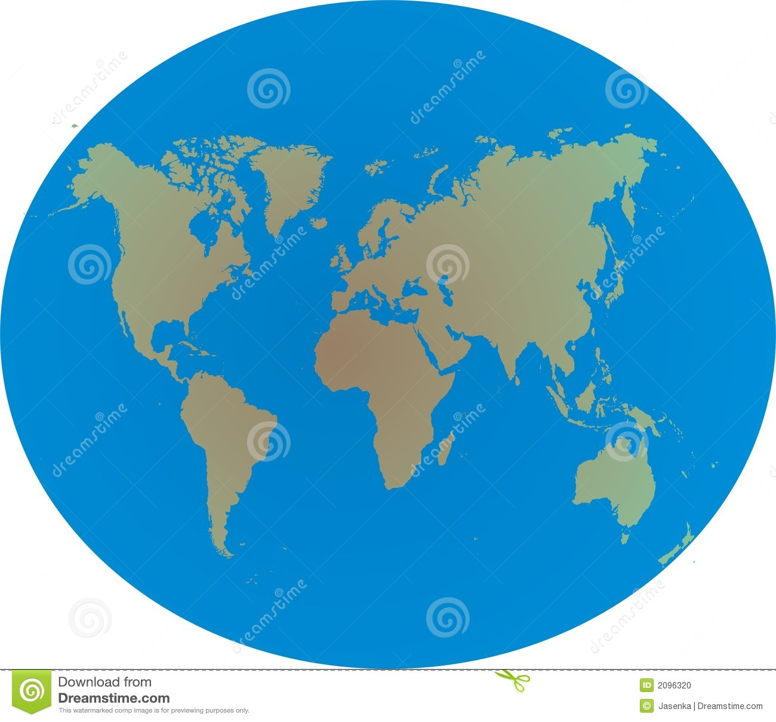 World Map On Globe Stock Photo Image 2096320