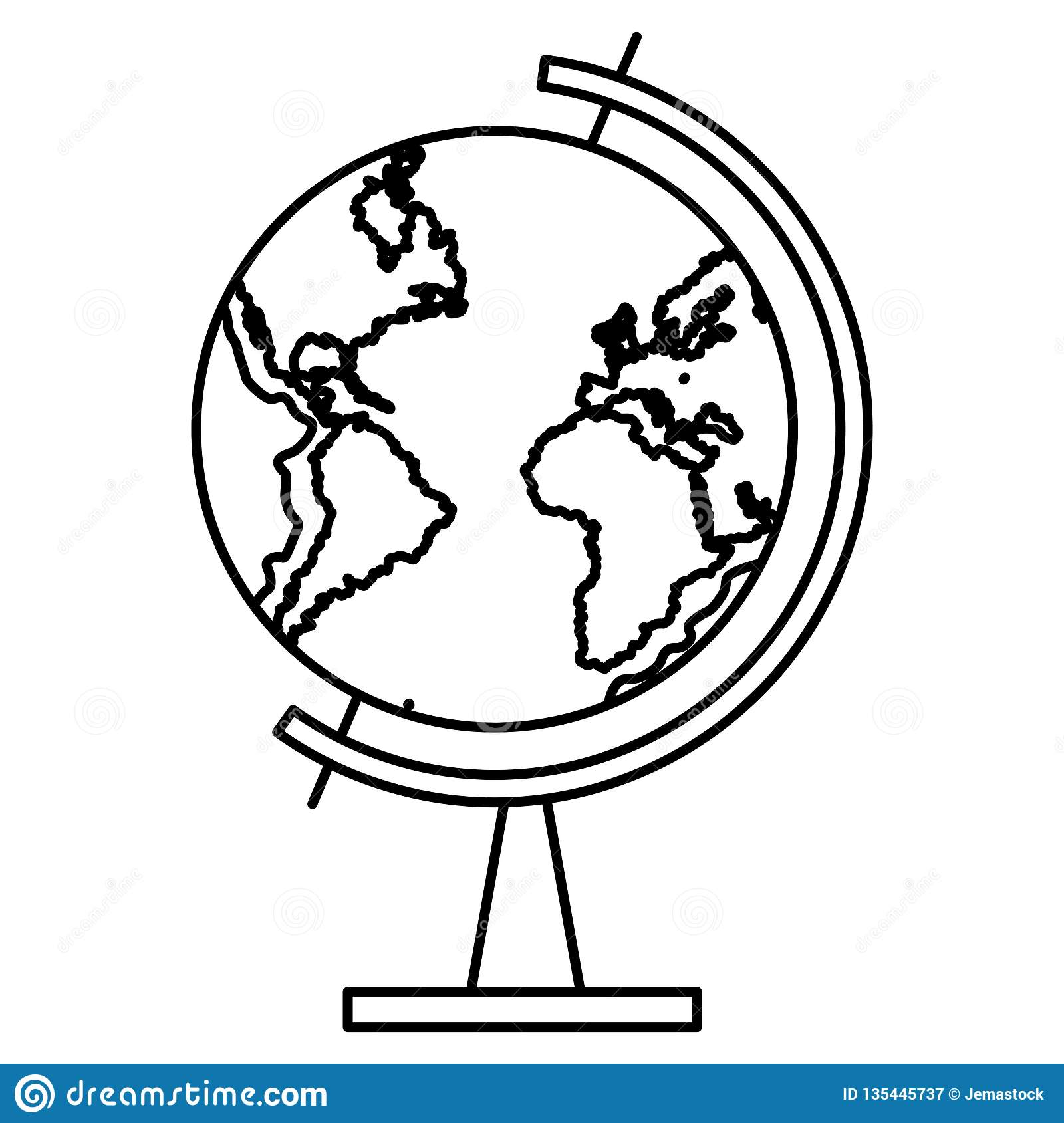 world map globe in black and white stock vector illustration of territory cartography 135445737 https www dreamstime com world map globe black white vector illustration graphic design image135445737