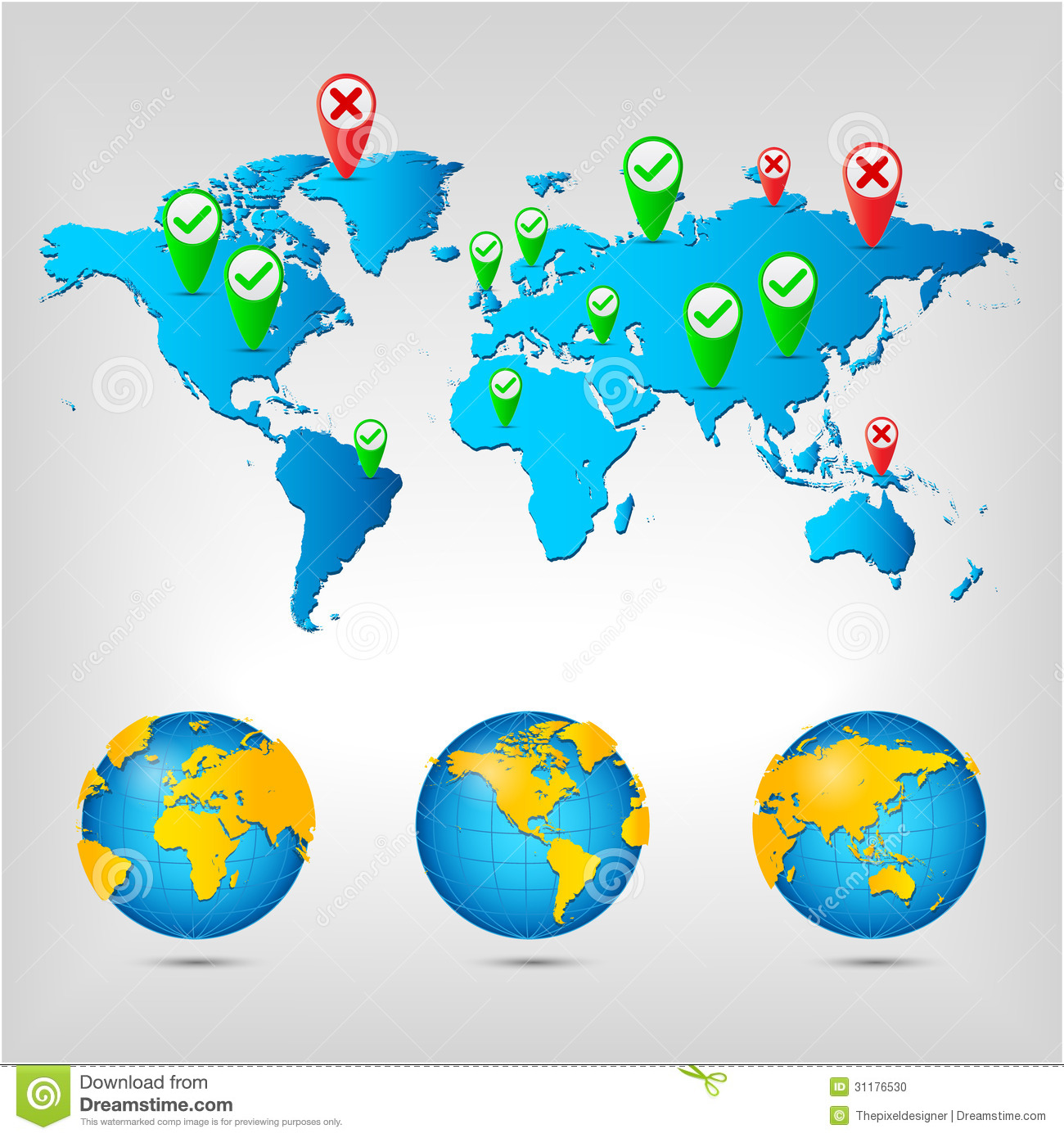 World map globe stock vector illustration of earth 31176530 download comp gumiabroncs Image collections