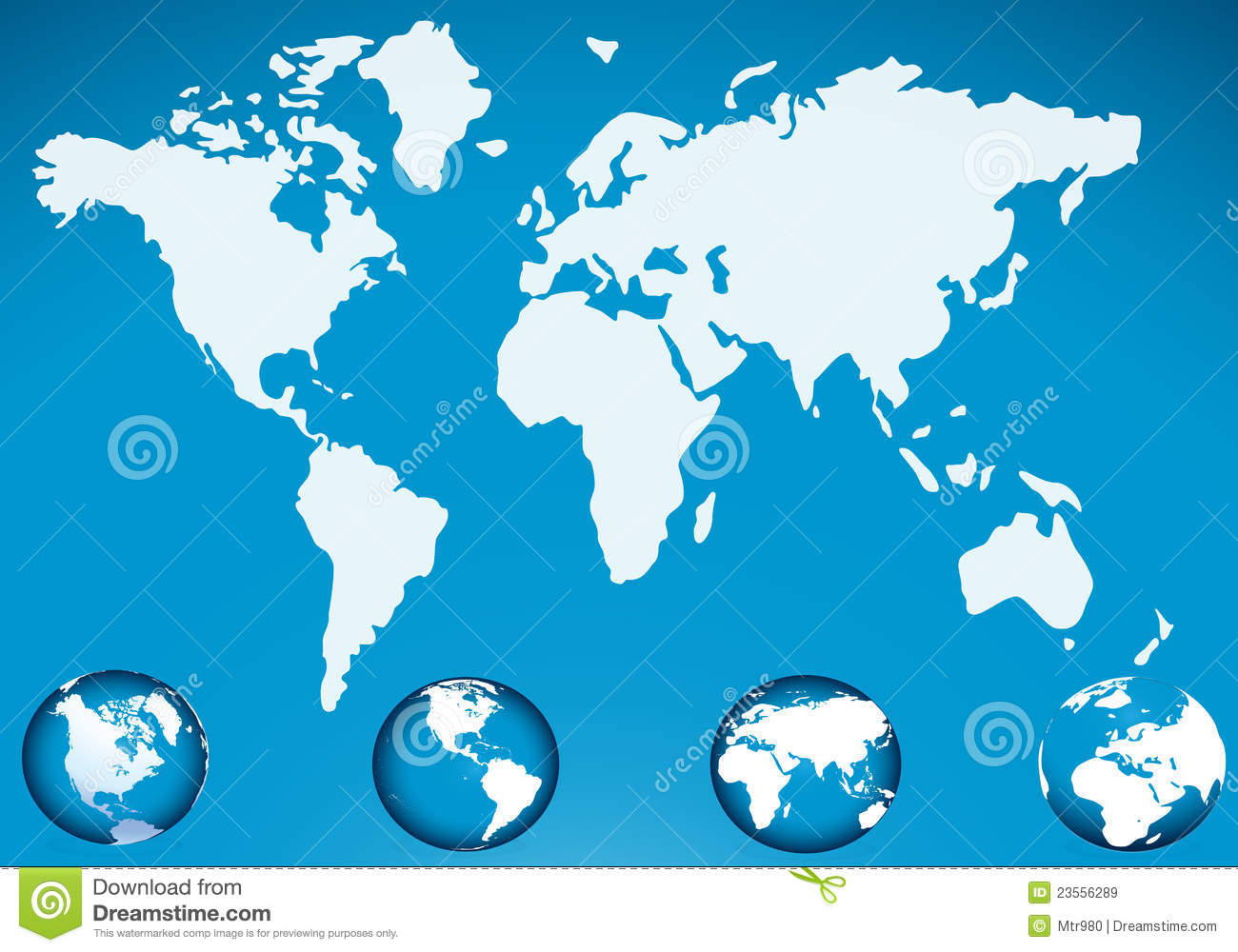 World map with globe icon stock vector illustration of water 23556289 world map with globe icon gumiabroncs Gallery