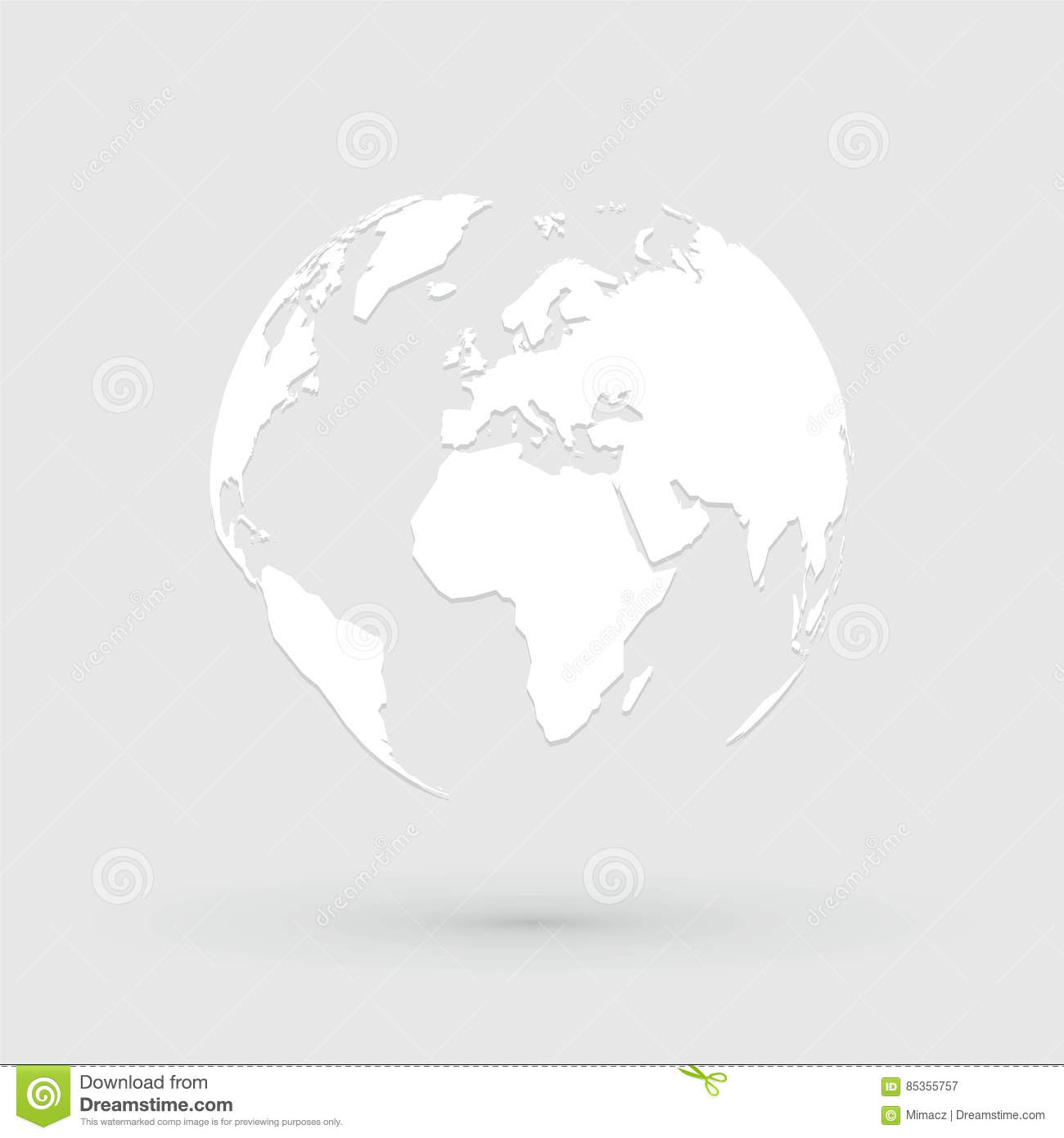 World map globe icon stock vector illustration of globe 85355757 world map globe icon gumiabroncs Gallery
