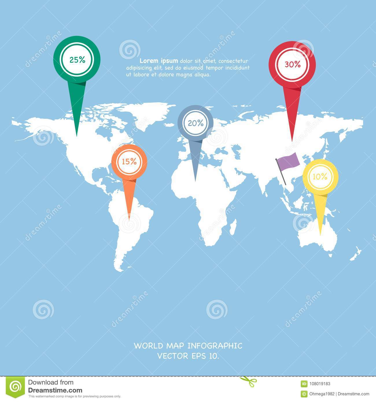 World map globe info graphic for communication concept stock vector download world map globe info graphic for communication concept stock vector illustration of creative freerunsca Image collections
