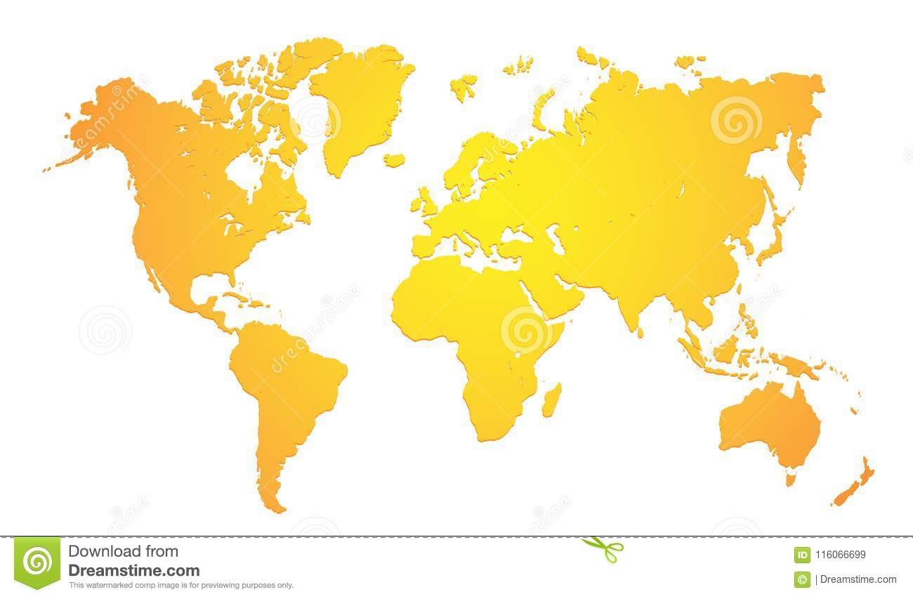 World Map In Gold Colored Stock Vector Illustration Of Background