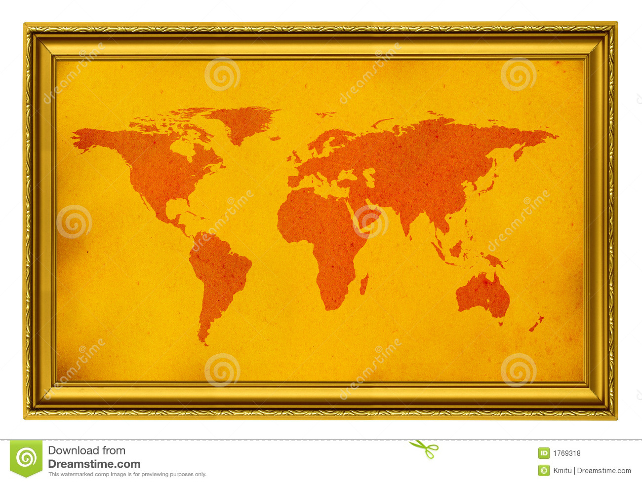world map in golden frame stock photo image of aged exhibition 1769318. Black Bedroom Furniture Sets. Home Design Ideas