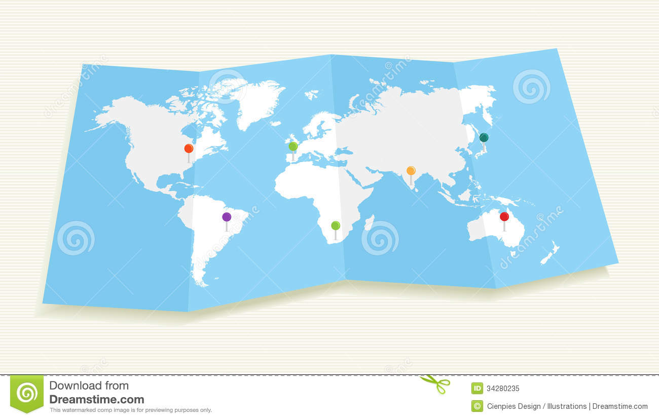 World map with gps location pushpins eps10 file stock vector world map with gps location pushpins eps10 file royalty free stock photo gumiabroncs Choice Image