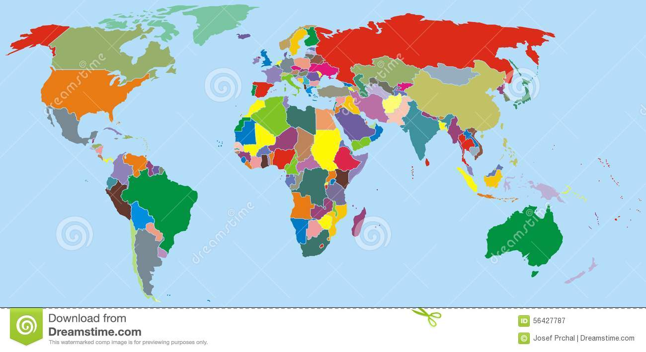World map stock vector image 56427787 for World nice photo