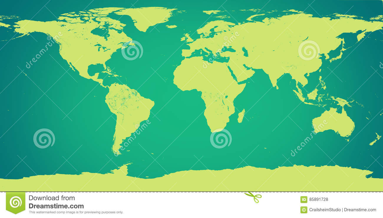 World Map Green Elements Of This Image Furnished By Nasa Stock