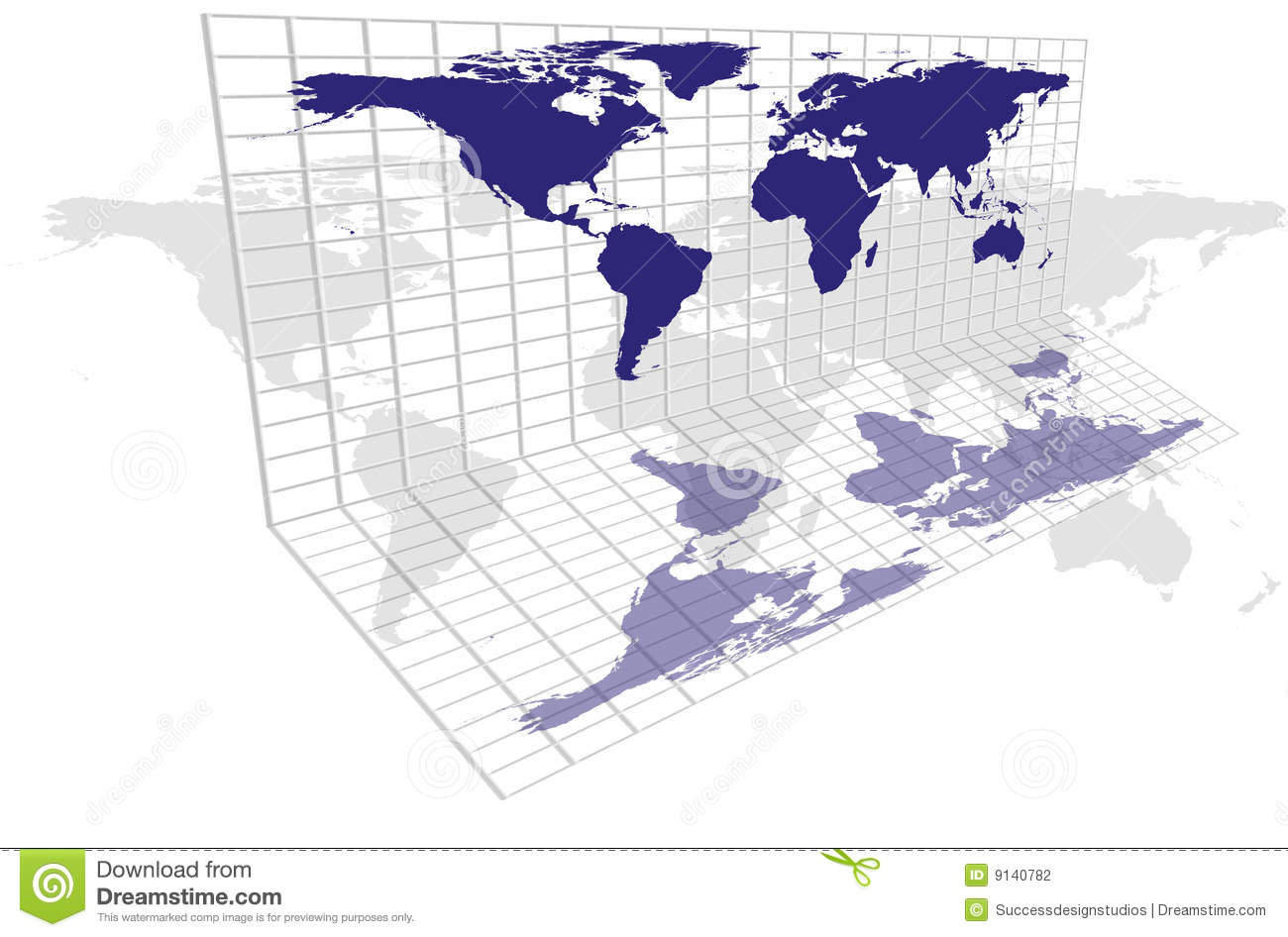 World map grid stock illustration image of continent 9140782 world map grid gumiabroncs Gallery