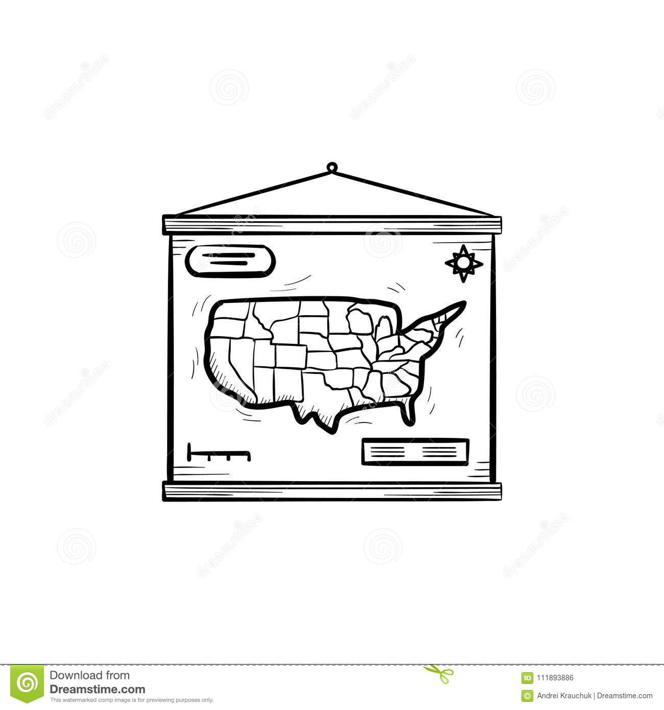 World map hand drawn sketch icon stock vector illustration of world map hand drawn sketch icon gumiabroncs Gallery