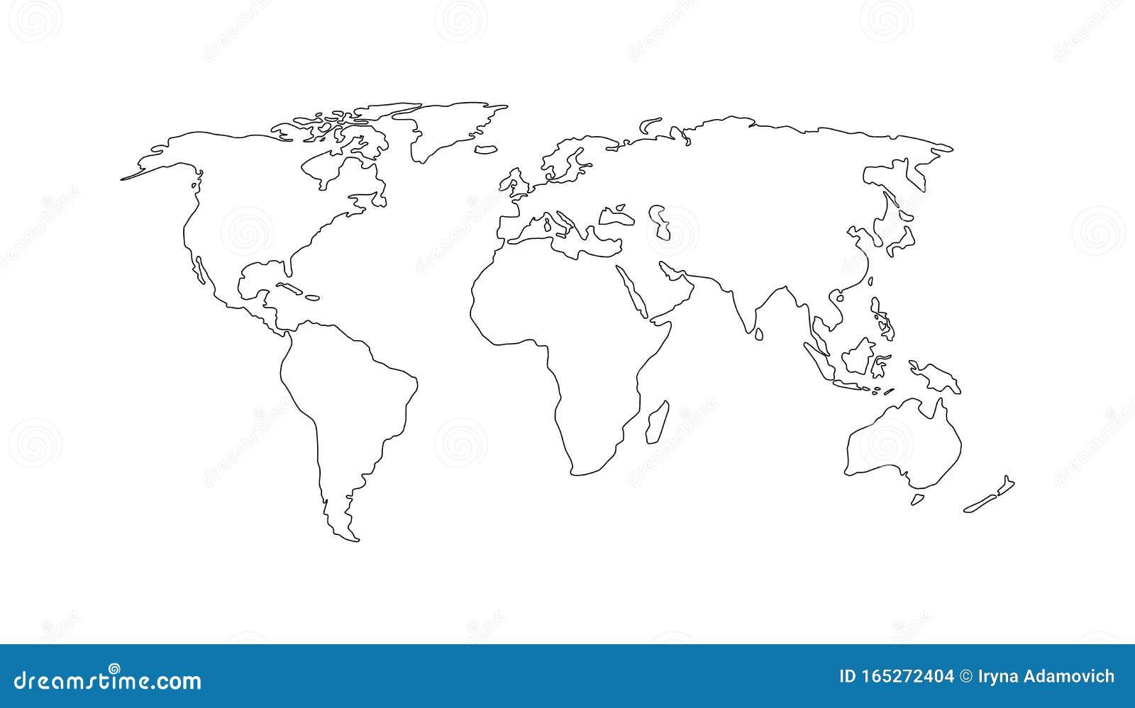 Simple World Map Outline World Map Outline Simple Stock Illustrations – 17,406 World Map