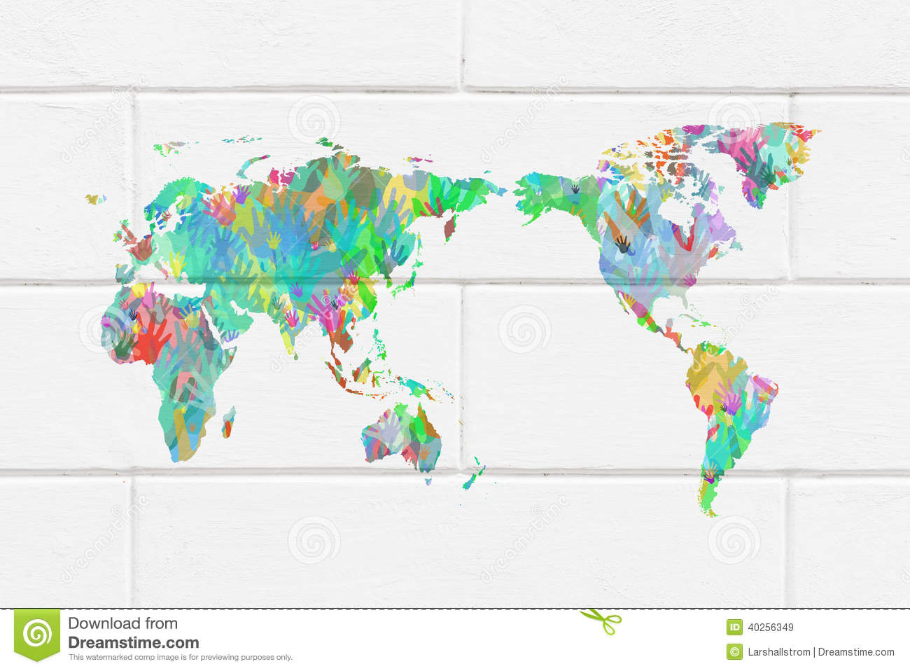 World map with hands in different colors stock image image of download comp gumiabroncs Image collections