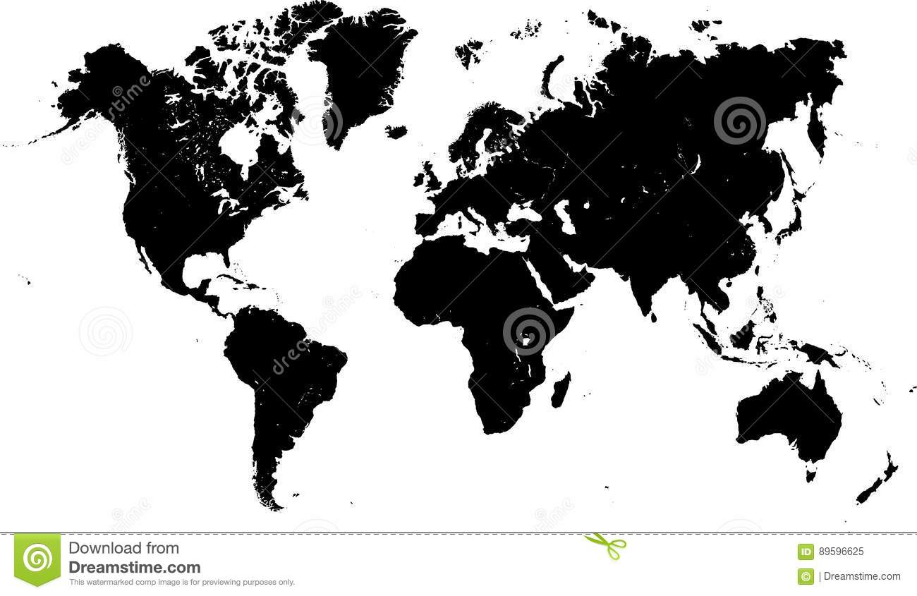 World map high detail stock vector. Illustration of vector ...