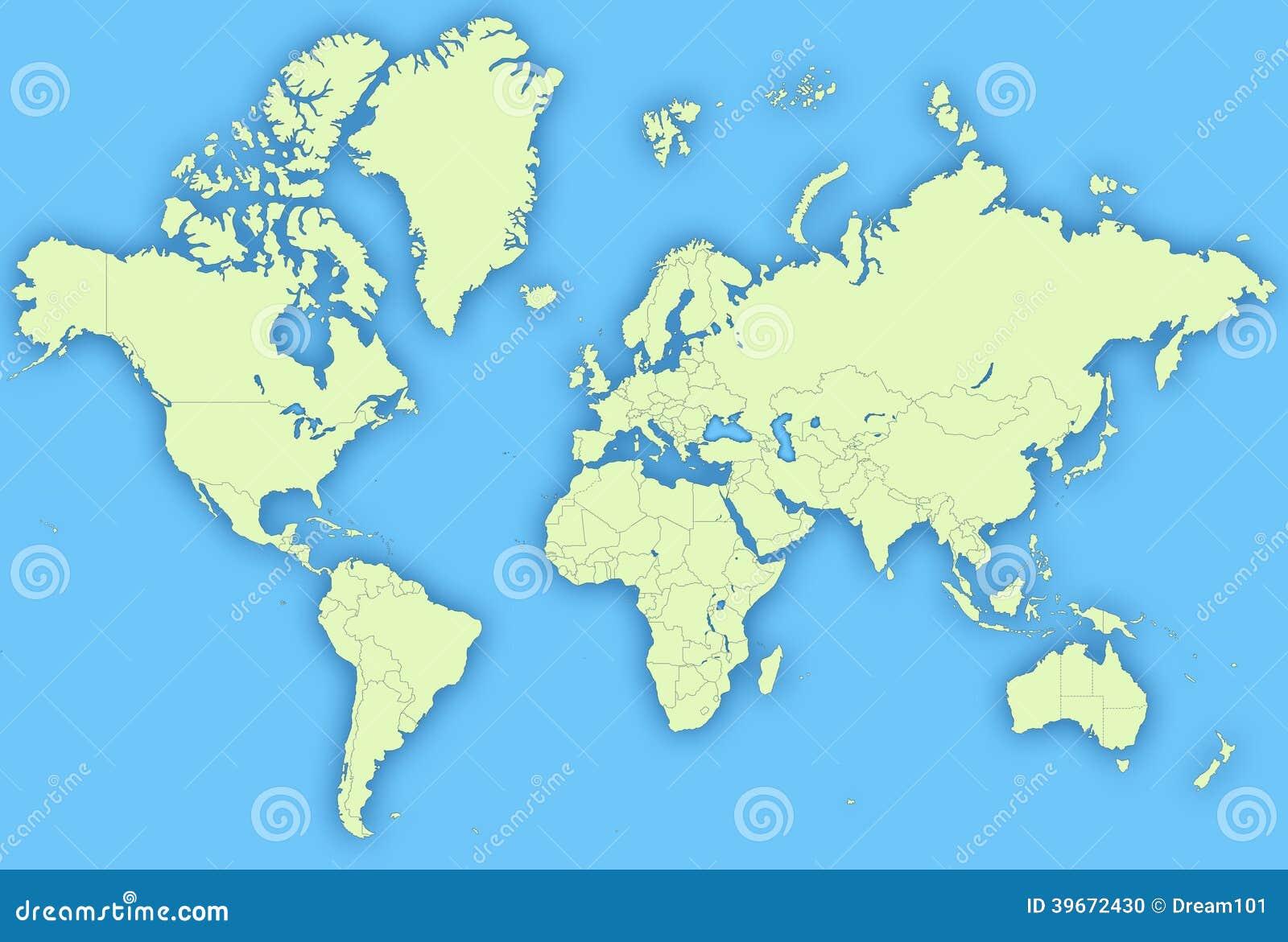 World Map stock illustration. Illustration of euroasia ...