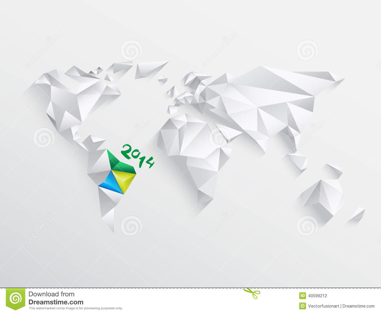 World Map With Highlighted Brazil For 2014 Editorial Photography – Map World Brazil