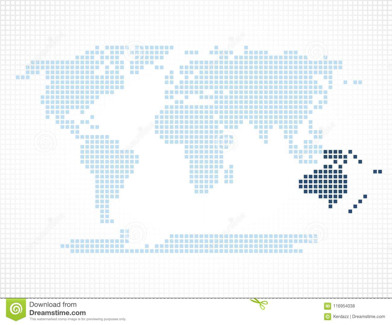 Australia continent on the world map stock vector illustration of australia continent on the world map gumiabroncs Images