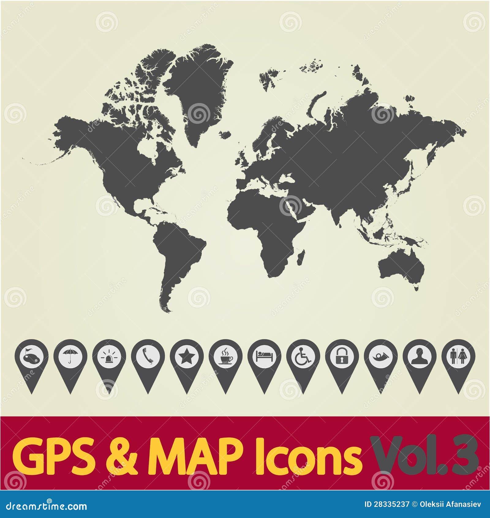 World map icon 3 stock vector illustration of illustration 28335237 world map icon 3 gumiabroncs Images