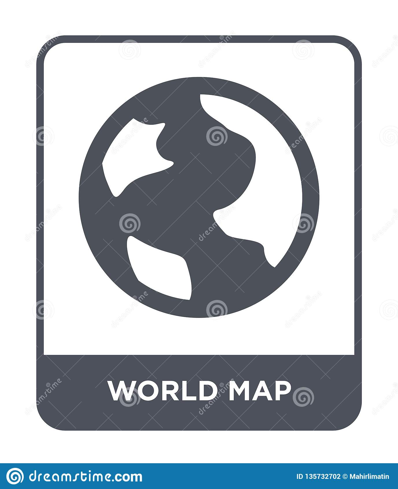 world map icon in trendy design style. world map icon isolated on white background. world map vector icon simple and modern flat