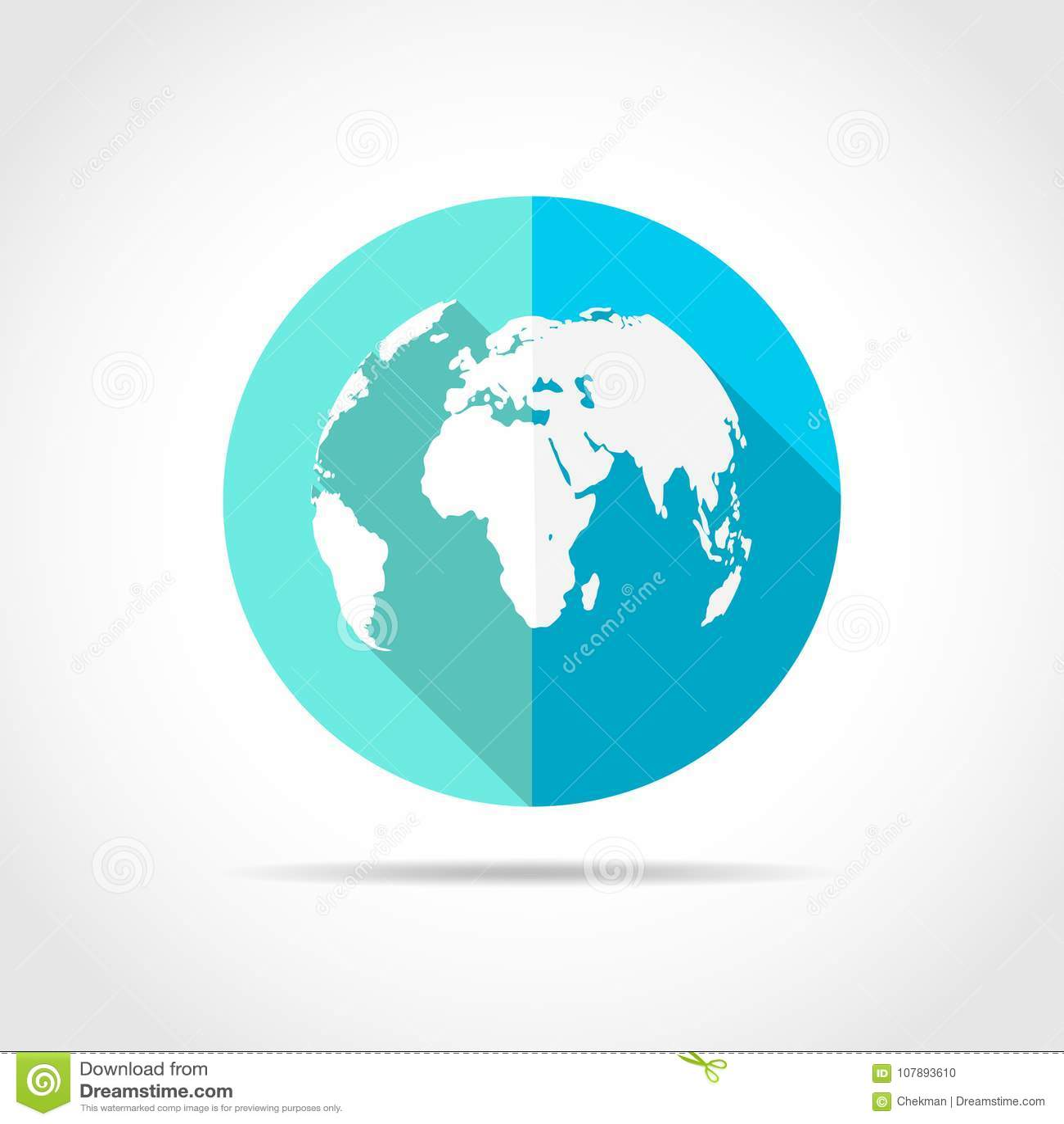 World Map Icon  Vector Illustration  Stock Vector
