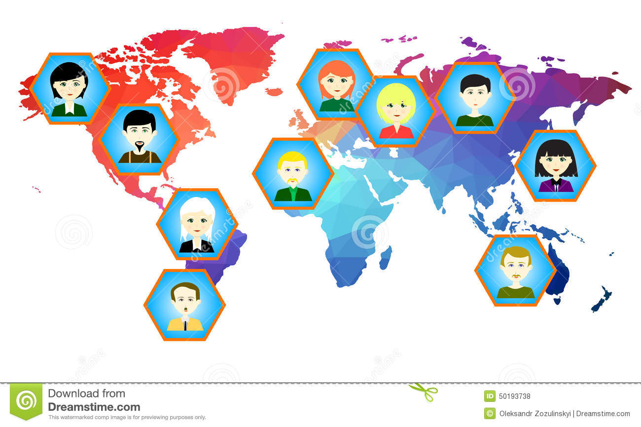 World map with icons of people vector 4 stock vector world map with icons of people vector 2 royalty free stock photos gumiabroncs Choice Image