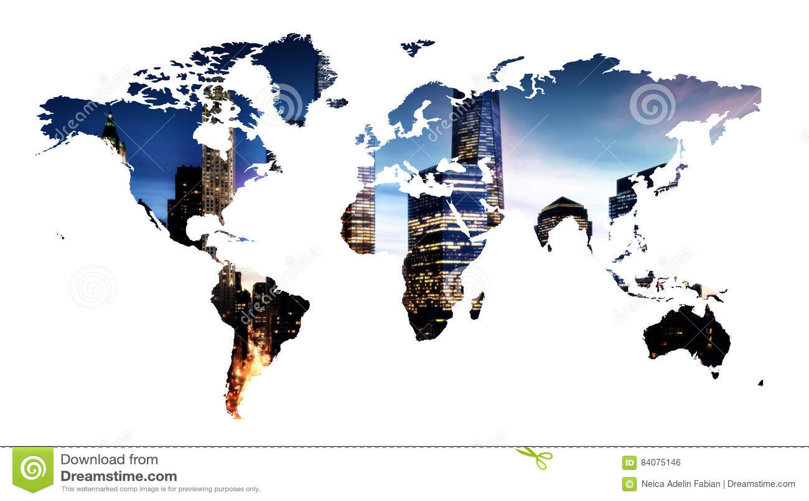 World Map Illustration Stock Illustration Illustration Of