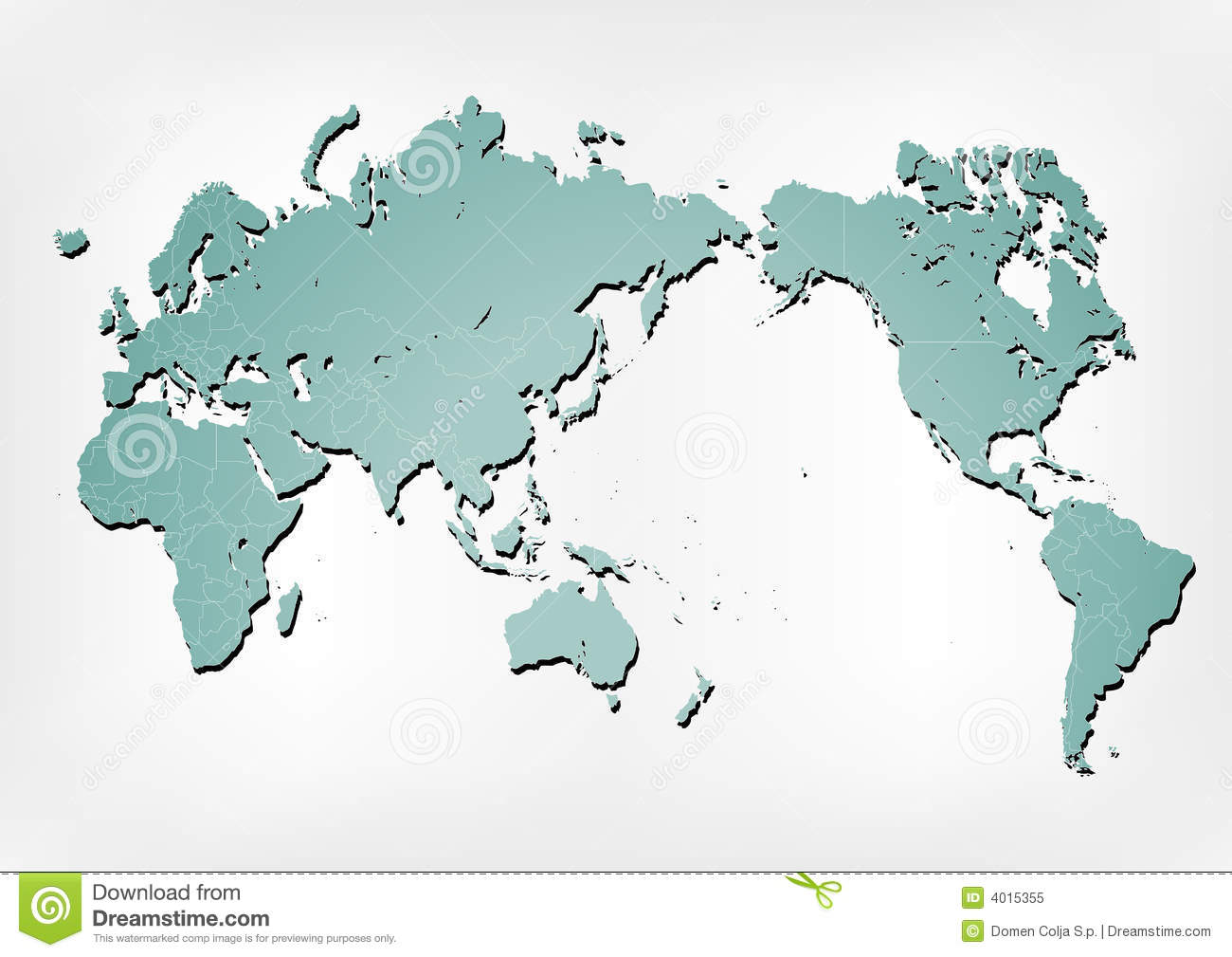 World map illustration with shadows stock vector illustration of world map illustration with shadows royalty free stock photo gumiabroncs Gallery
