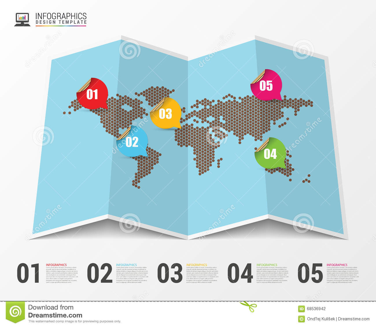 World map with infographic elements modern design vector stock world map with infographic elements modern design vector gumiabroncs Choice Image