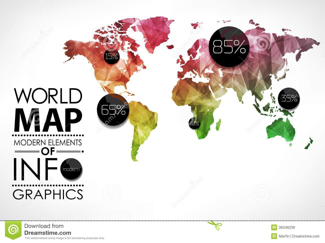 Infographic world map