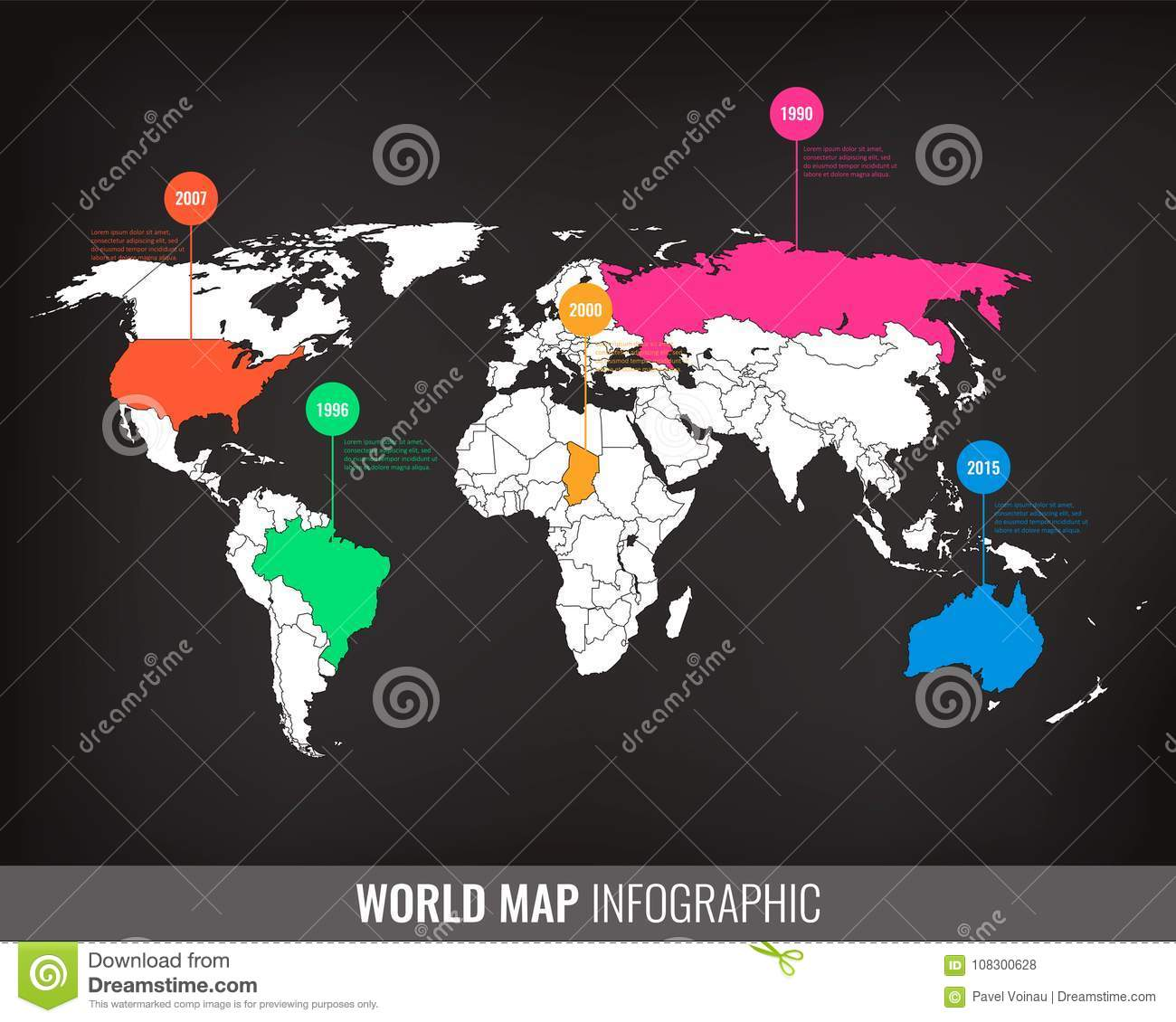 World map infographic template all country are selectable vector download world map infographic template all country are selectable vector stock vector illustration download comp gumiabroncs Gallery