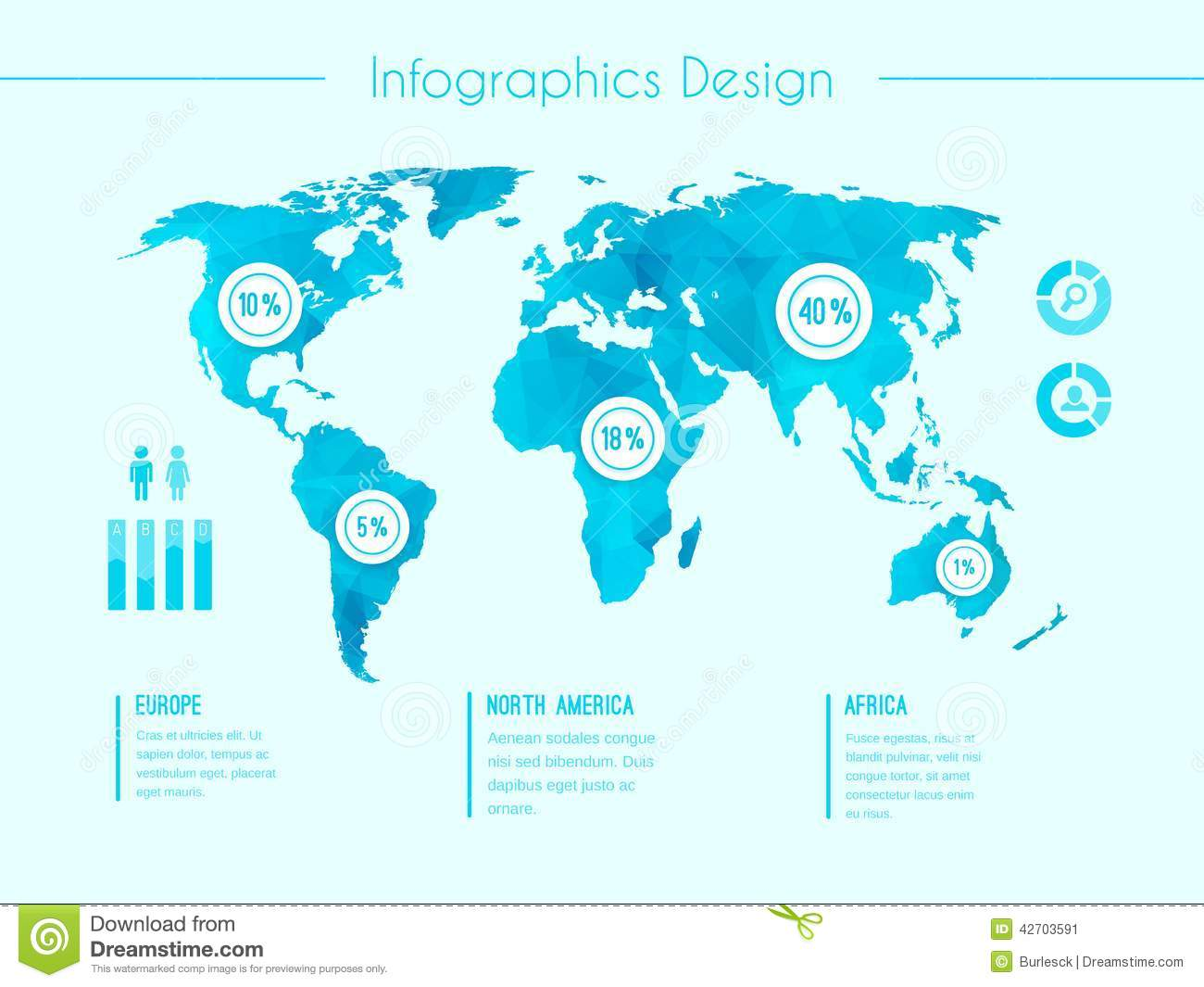 World map infographic template stock vector illustration of world map infographic template gumiabroncs Choice Image