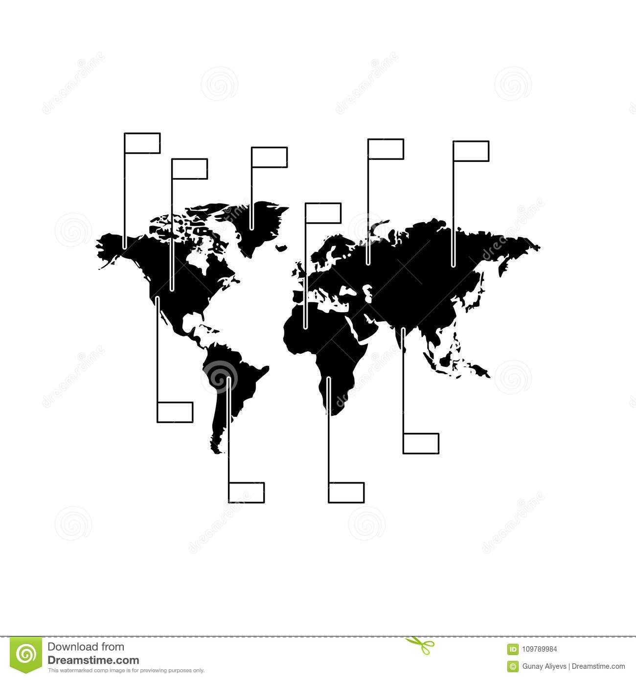 World map infographics icon element of global statistics for mobile royalty free illustration download world map infographics gumiabroncs Image collections