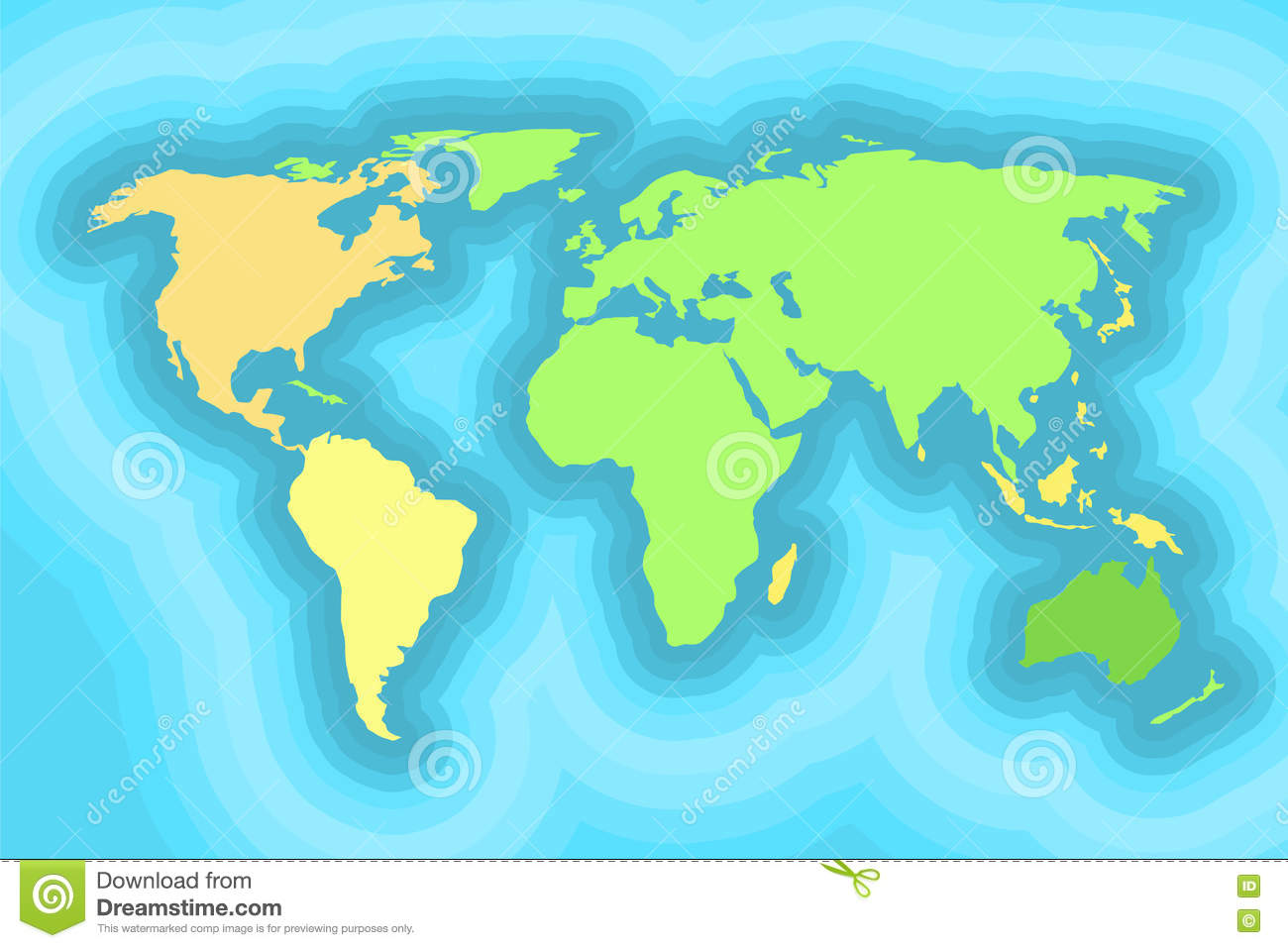 World Map For Kids Wallpaper Design Stock Vector Illustration Of