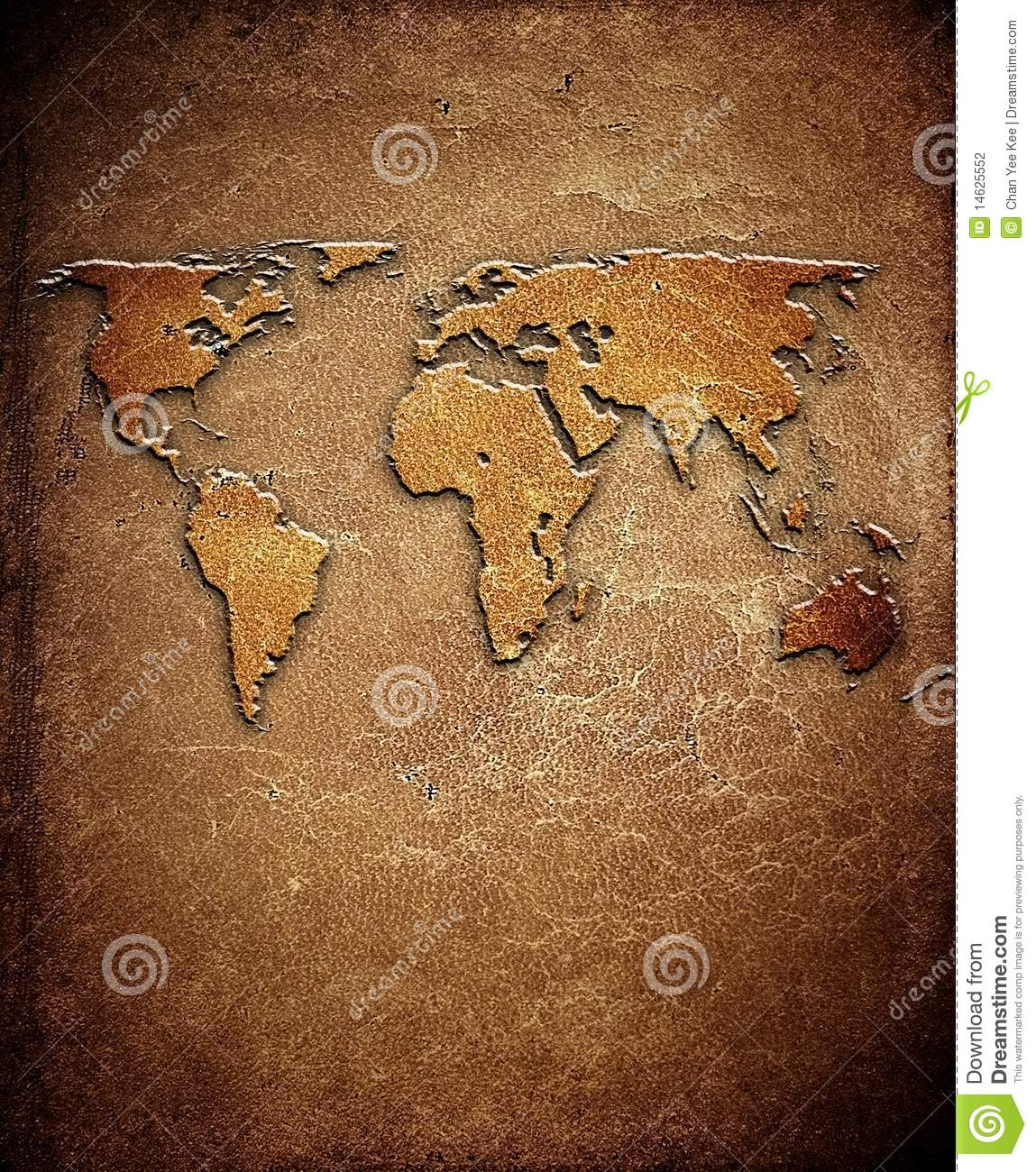 World map on leather background stock illustration illustration of world map on leather background gumiabroncs Gallery
