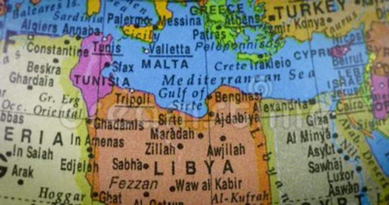 World Map With Libya Country Map Stock Video Video Of Macro