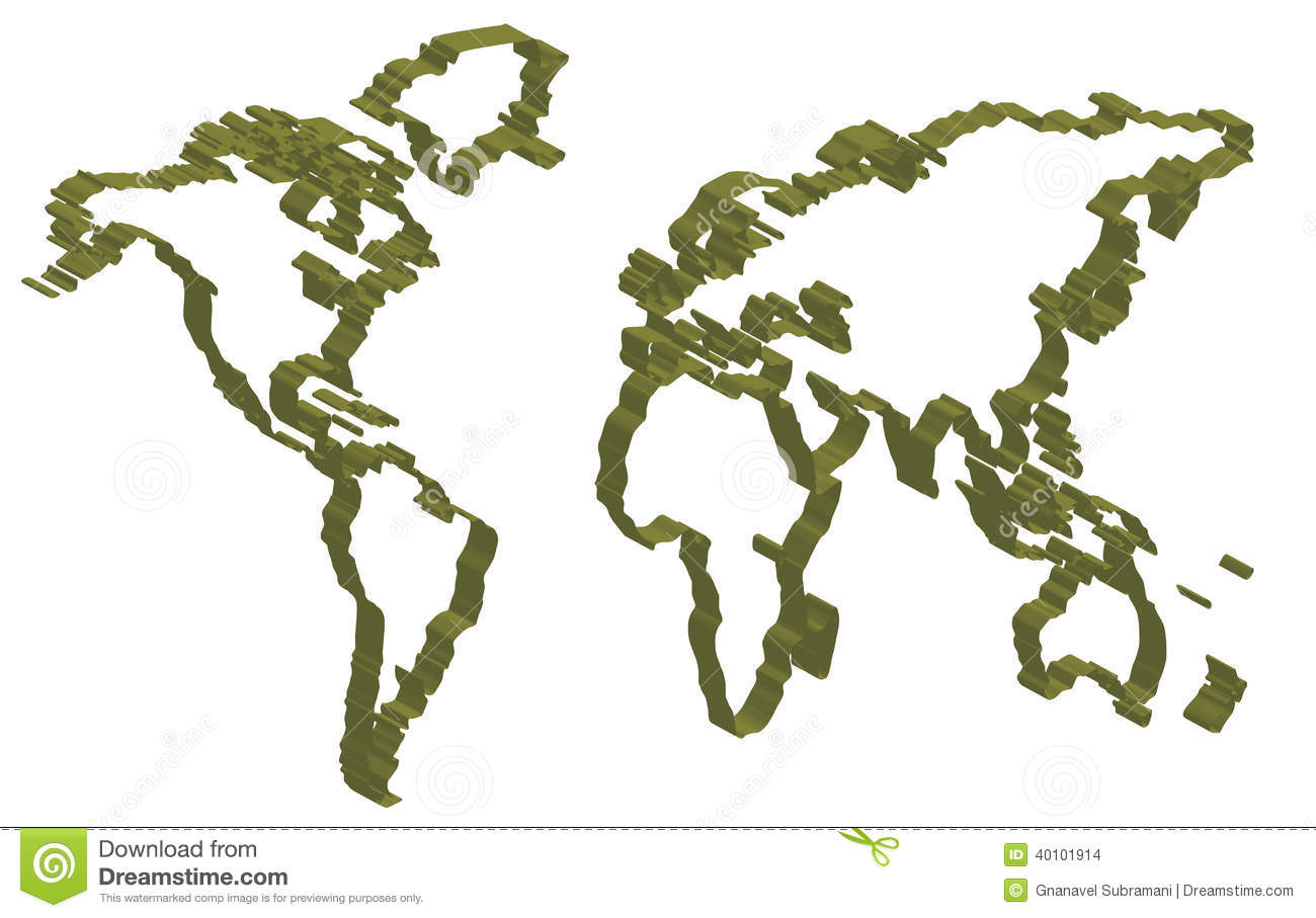 Line Drawing World Map : World map stock illustration image