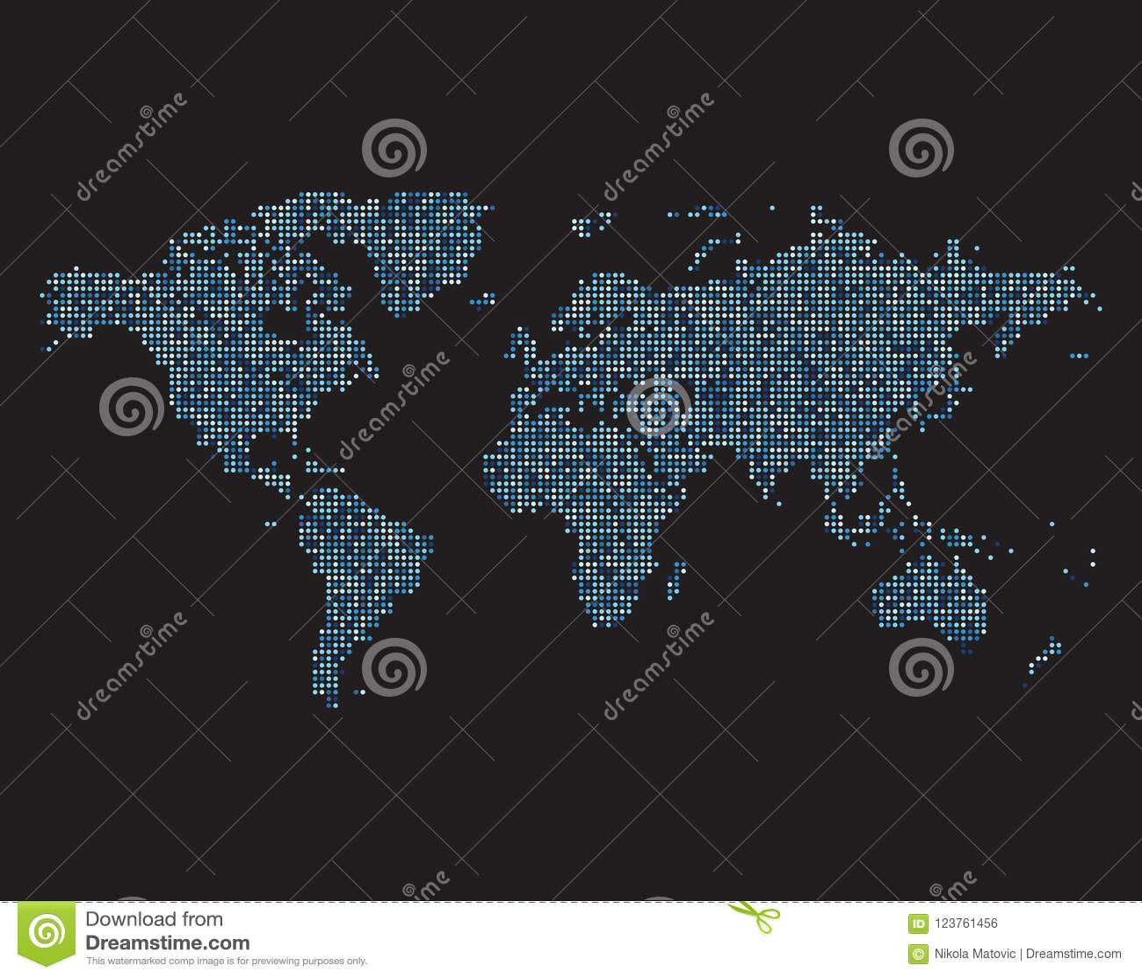 World map made of blue dots stock illustration illustration of download comp gumiabroncs Images