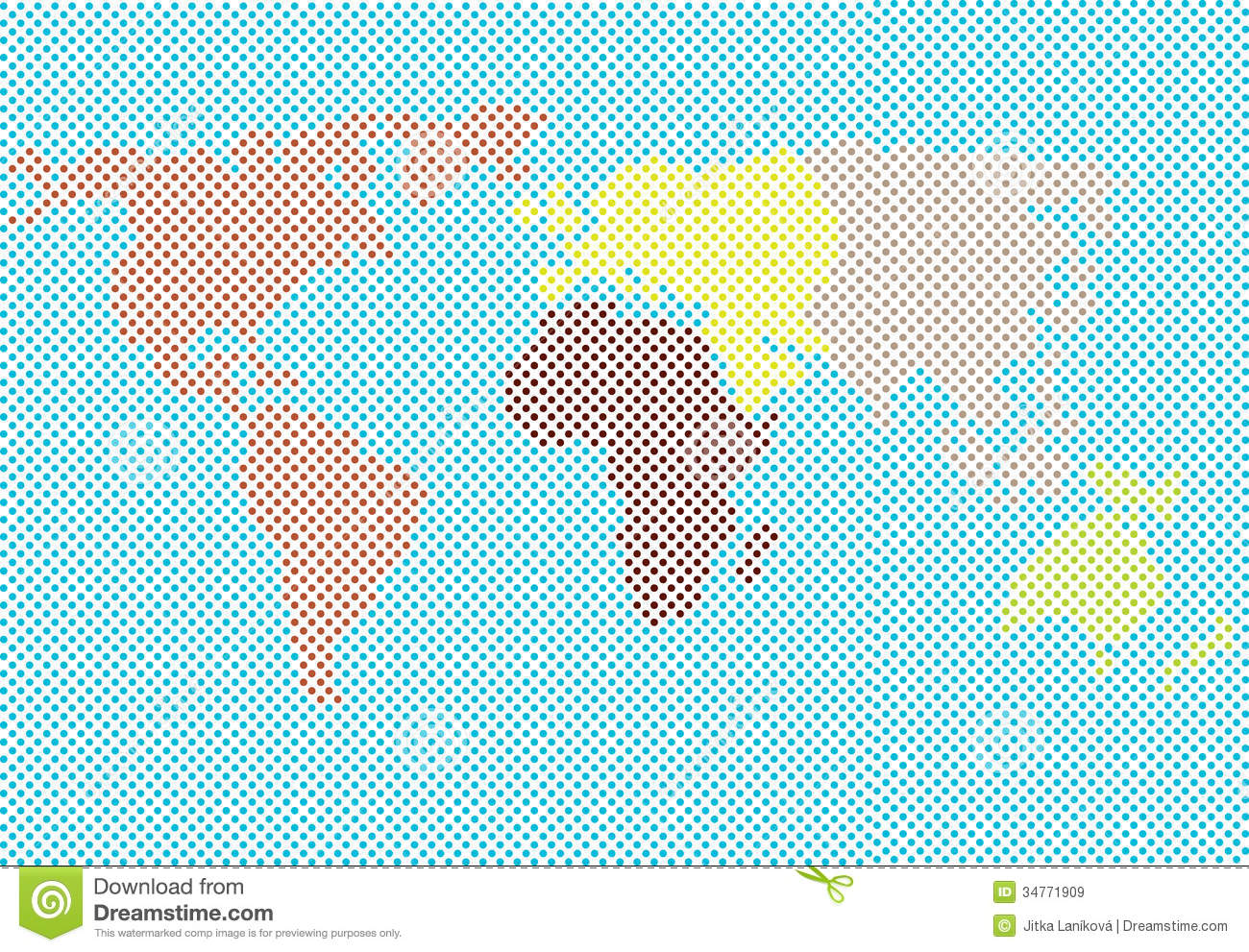 World map made of dots stock illustration illustration of world map made of dots continents colorful gumiabroncs Choice Image